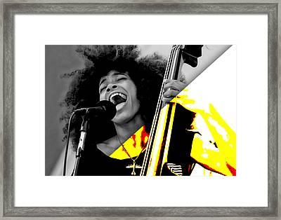 Esperanza Spalding Collection Framed Print by Marvin Blaine