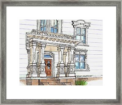 Essex Street Front Door Framed Print