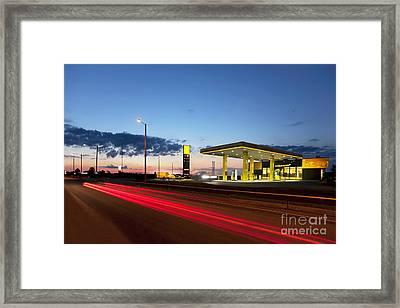 Estonian Gas Station Framed Print