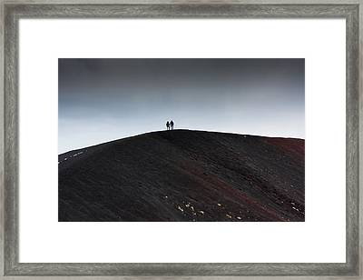 Etna, The Volcano Framed Print