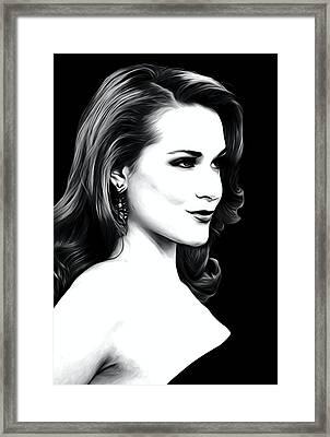 Evan Rachel Wood Art Framed Print