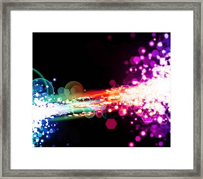 Explosion Of Lights Framed Print by Setsiri Silapasuwanchai