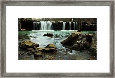 Falling Water Falls Framed Print by Iris Greenwell