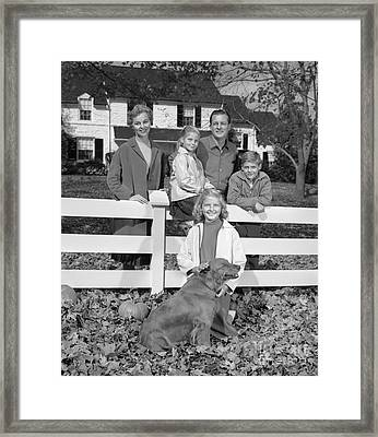 Family Portrait, C.1960s Framed Print by H. Armstrong Roberts/ClassicStock