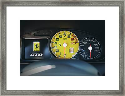 Framed Print featuring the photograph #ferrari #599gto #print by ItzKirb Photography