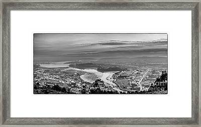 Framed Print featuring the photograph Ferrol's Ria Panorama From Mount Ancos Galicia Spain by Pablo Avanzini