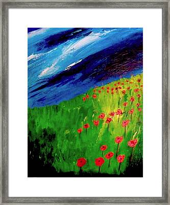 field of Poppies Framed Print by Misty VanPool