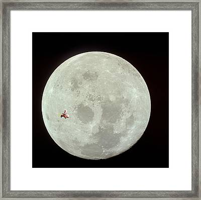Fifi Goes To The Moon Framed Print