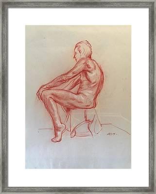 Figure Study Framed Print by Alejandro Lopez-Tasso