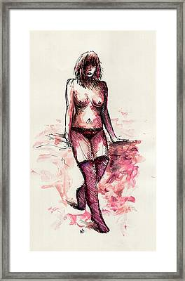 Figure Study Framed Print by Rachel Christine Nowicki