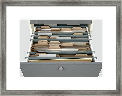 Filing Cabinet Drawer Open Generic Framed Print by Allan Swart