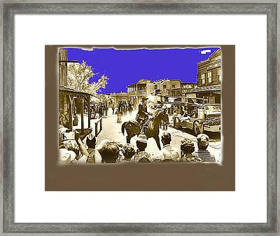 Film Homage Cameron Mitchell The High Chaparral Main Street Old Tucson Az Publicity Photo Framed Print by David Lee Guss