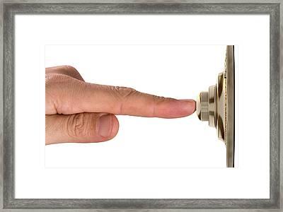 Finger Pressing Doorbell Framed Print