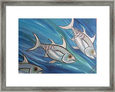 3 Fish Framed Print
