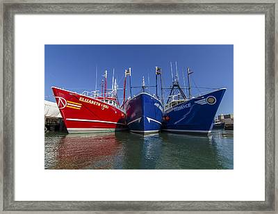 3 Fishing Boats Framed Print