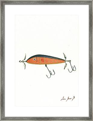 Fishing Lure  Framed Print by Juan Bosco