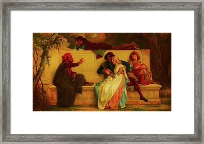 Framed Print featuring the painting Florentine Poet by Alexandre Cabanel