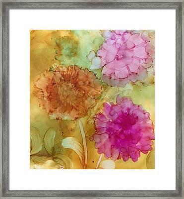 3 Flowers Framed Print