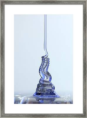 Fluid Coiling Effect Framed Print by Ted Kinsman