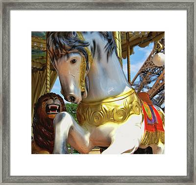Flying Paris Horses  Framed Print by JAMART Photography