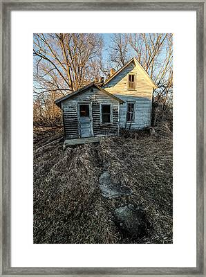 Framed Print featuring the photograph Forgotten by Aaron J Groen