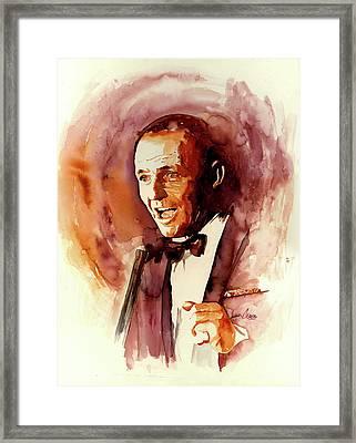 Frank Sinatra - Sands Framed Print