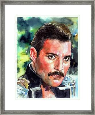 Freddie Mercury Portrait Framed Print