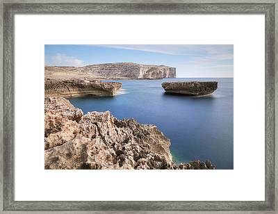 Fungus Rock - Gozo Framed Print