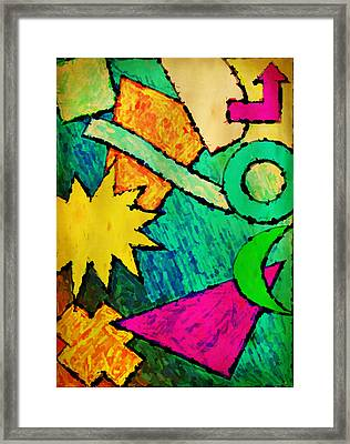 Funky Fanfare Framed Print by Kyle West