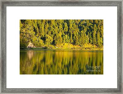 Furnas Lake Framed Print by Gaspar Avila