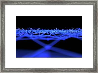 Futuristic Plexis Background Framed Print by Allan Swart