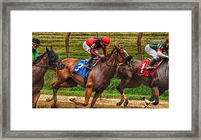 3 Gaining Framed Print