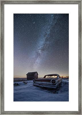 Framed Print featuring the photograph 3 Galaxies  by Aaron J Groen