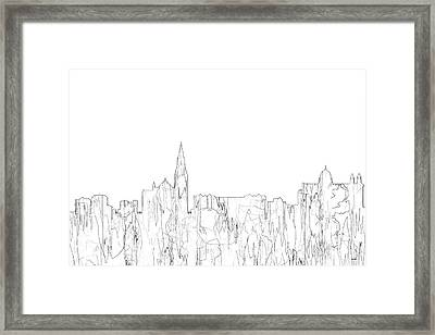 Galway Ireland Skyline Framed Print