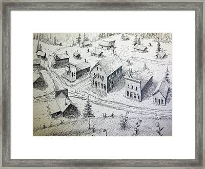 Garnet Ghost Town Montana Framed Print by Kevin Heaney