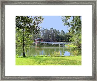 Gazebo On The Lake Framed Print