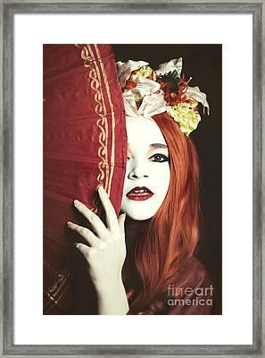 Geisha Girl Framed Print by Amanda Elwell