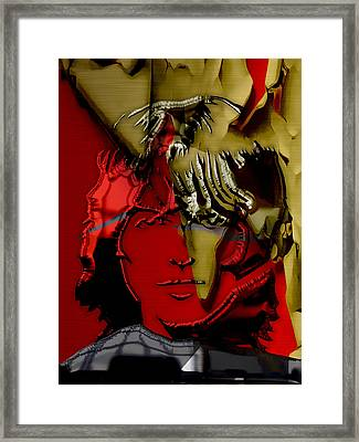 George Harrison Art Framed Print by Marvin Blaine