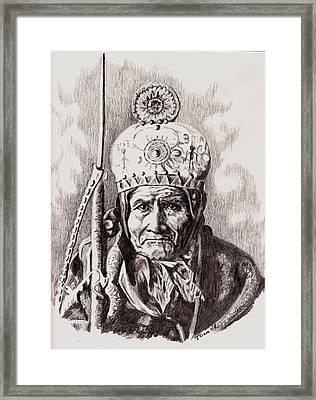 Geronimo Framed Print by Toon De Zwart