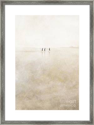 3 Girls Running Framed Print by Paul Grand