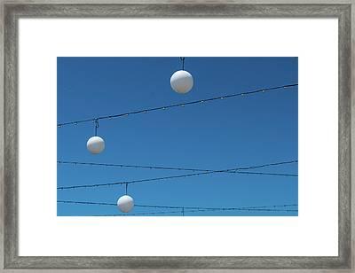 3 Globes Framed Print