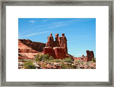 3 Gossips Hoodoos Arches National Park Moab Utah Framed Print