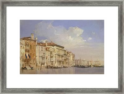 Grand Canal, Venice Framed Print by Richard Parkes Bonington