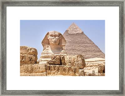 Great Sphinx Of Giza - Egypt Framed Print