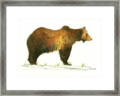 Grizzly Brown Bear Framed Print