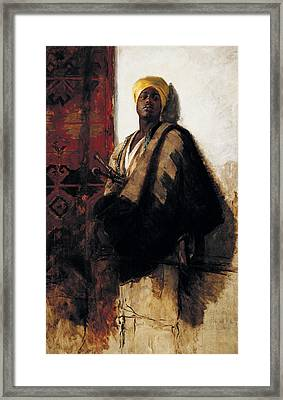 Guard Of The Harem Framed Print by Frank Duveneck