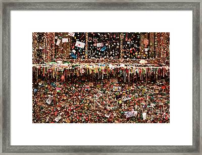 Gum Wall Pike Place Market Framed Print by Jim Corwin