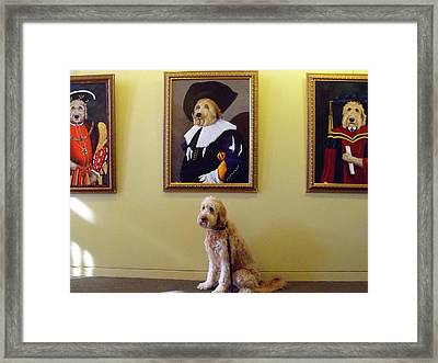 Gunther At His Show  Framed Print by Diane Daigle