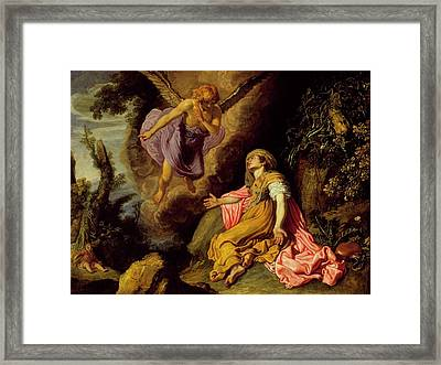 Hagar And The Angel Framed Print by MotionAge Designs