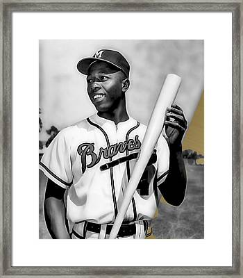 Hank Aaron Collection Framed Print by Marvin Blaine